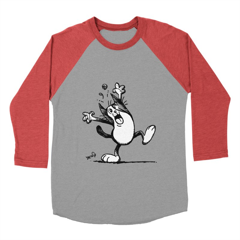 Here I Yam Men's Baseball Triblend Longsleeve T-Shirt by Fuzzy Poet's Artist Shop