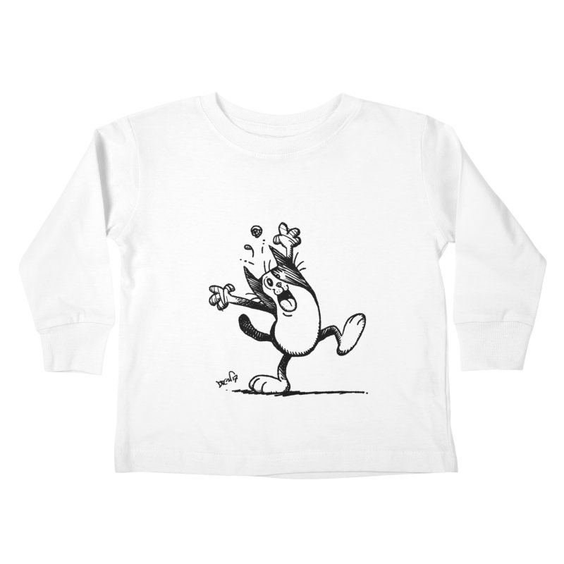 Here I Yam Kids Toddler Longsleeve T-Shirt by Fuzzy Poet's Artist Shop