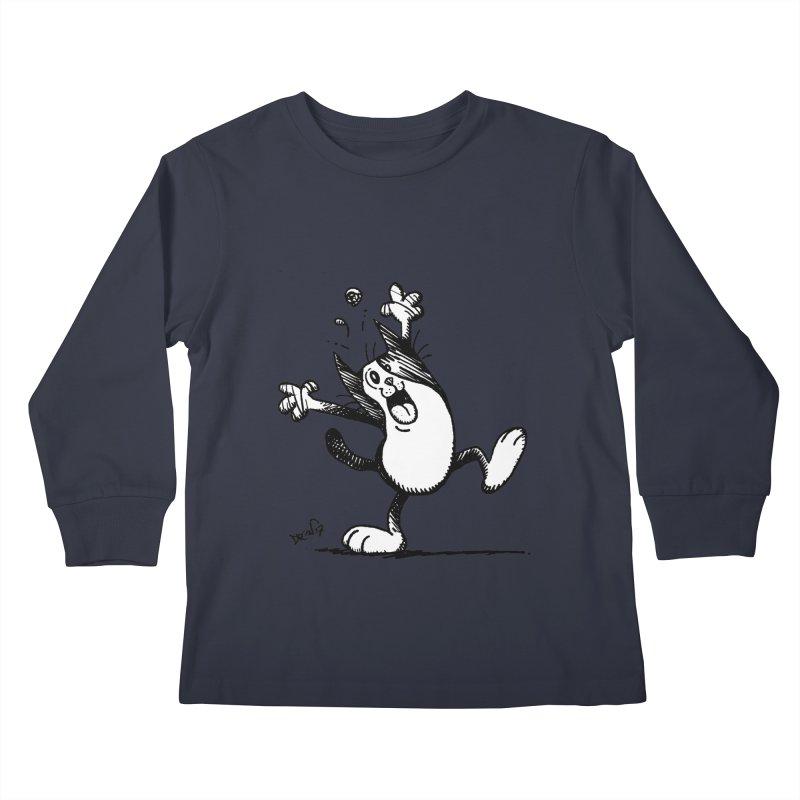 Here I Yam Kids Longsleeve T-Shirt by Fuzzy Poet's Artist Shop