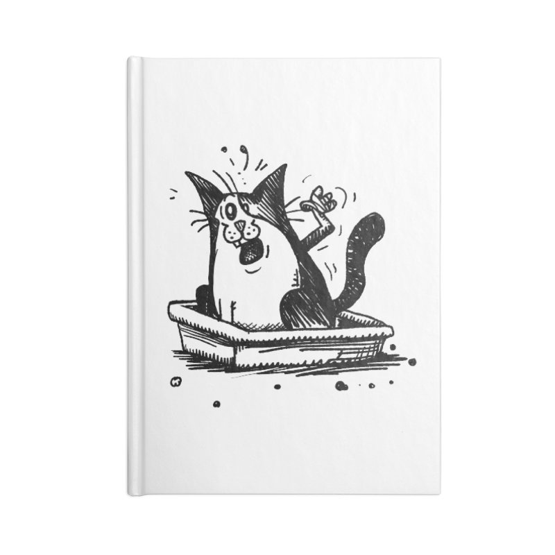 Litterbox! Accessories Blank Journal Notebook by Fuzzy Poet's Artist Shop