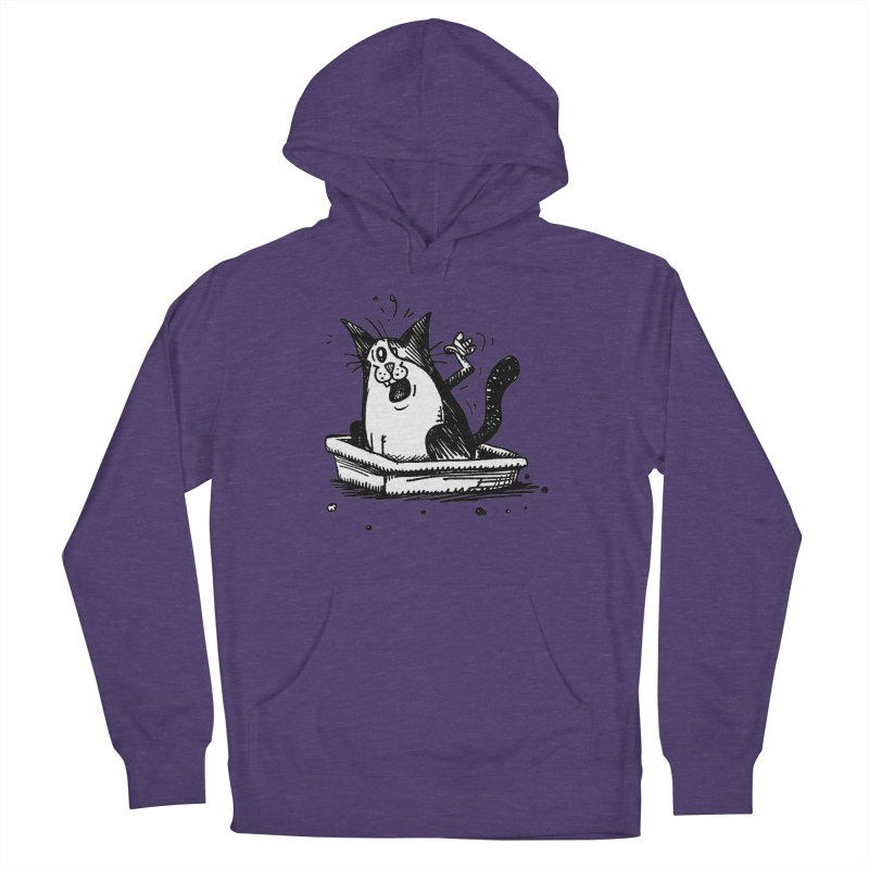Litterbox! Men's French Terry Pullover Hoody by Fuzzy Poet's Artist Shop