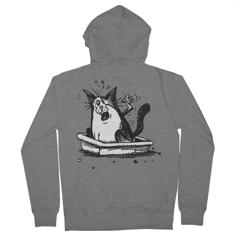 Litterbox! Women's French Terry Zip-Up Hoody by Fuzzy Poet's Artist Shop