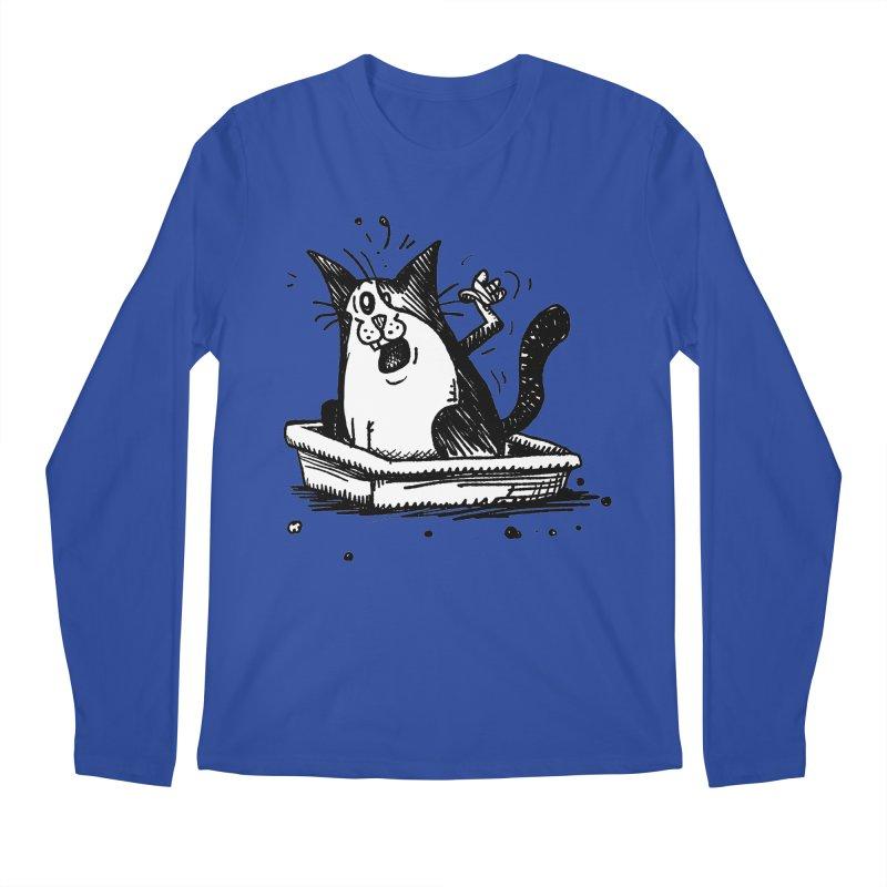 Litterbox! Men's Regular Longsleeve T-Shirt by Fuzzy Poet's Artist Shop