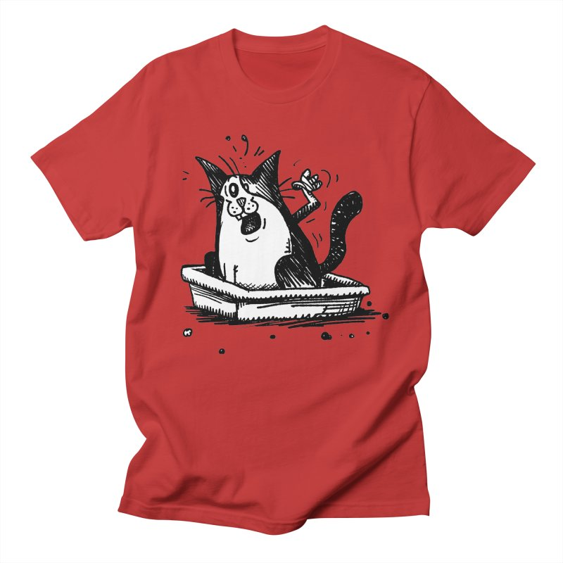 Litterbox! Men's Regular T-Shirt by Fuzzy Poet's Artist Shop