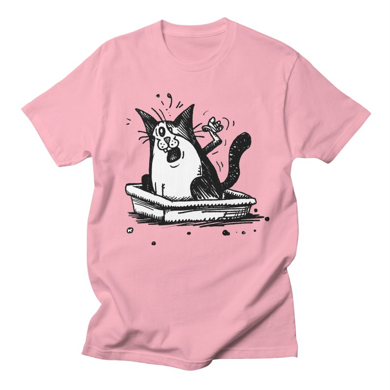 Litterbox! Men's Regular T-Shirt by Fuzzy Poet's Artist Shop