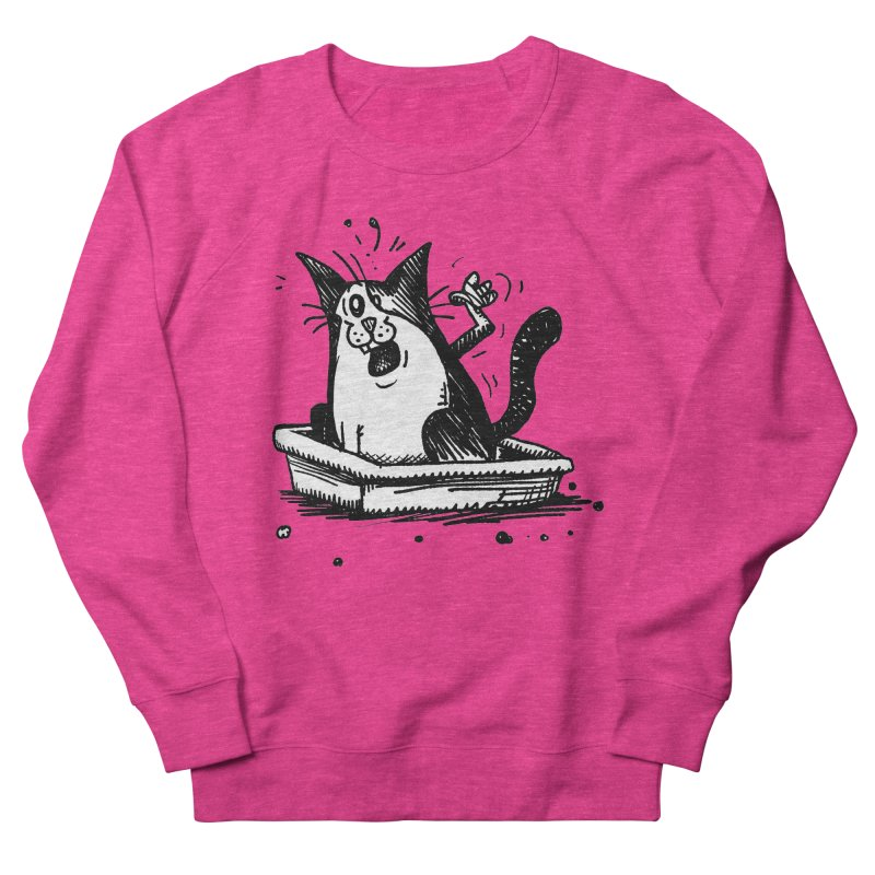 Litterbox! Women's French Terry Sweatshirt by Fuzzy Poet's Artist Shop