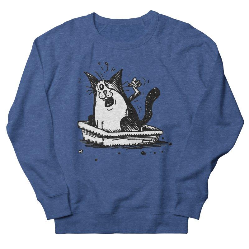Litterbox! Men's French Terry Sweatshirt by Fuzzy Poet's Artist Shop