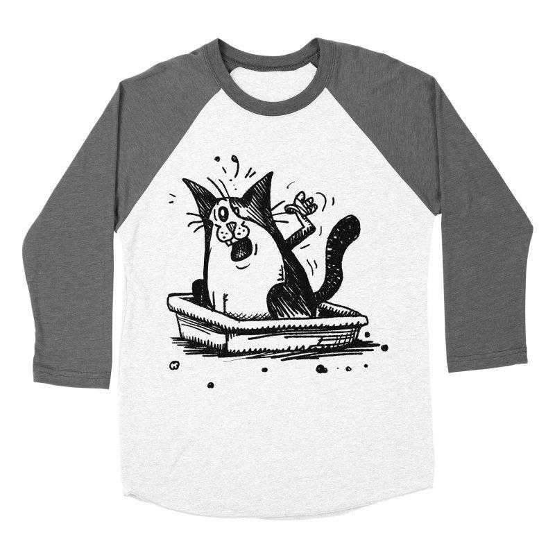 Litterbox! Women's Baseball Triblend Longsleeve T-Shirt by Fuzzy Poet's Artist Shop