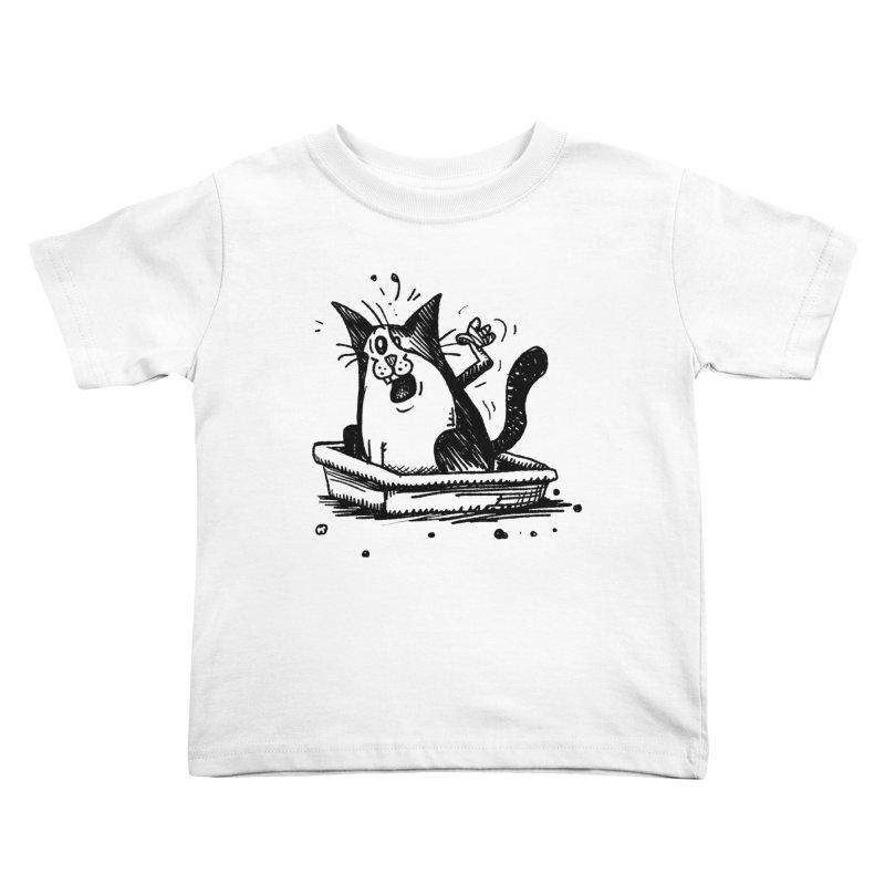 Litterbox! Kids Toddler T-Shirt by Fuzzy Poet's Artist Shop