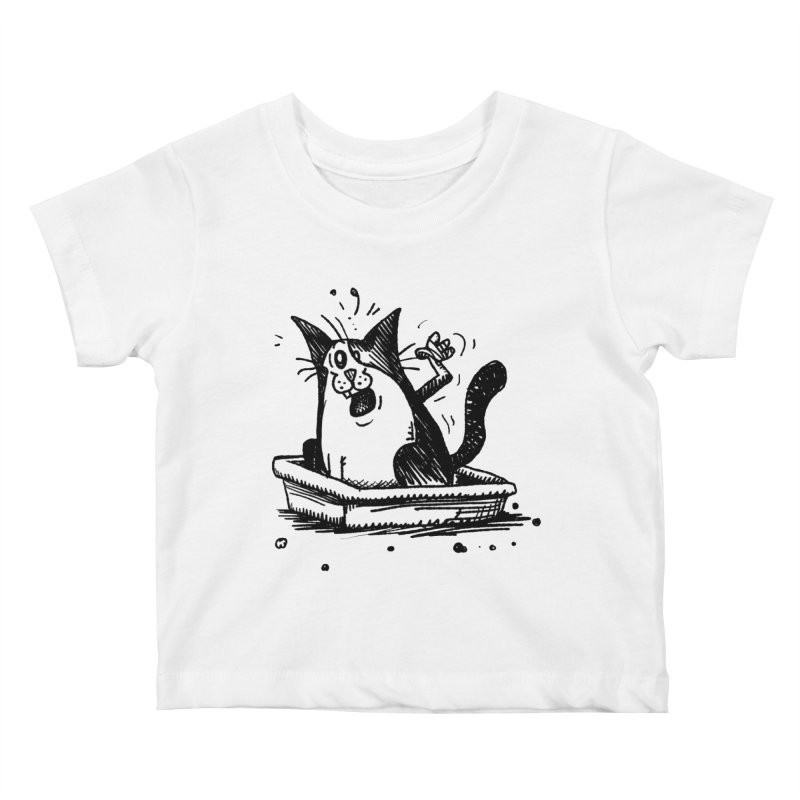 Litterbox! Kids Baby T-Shirt by Fuzzy Poet's Artist Shop