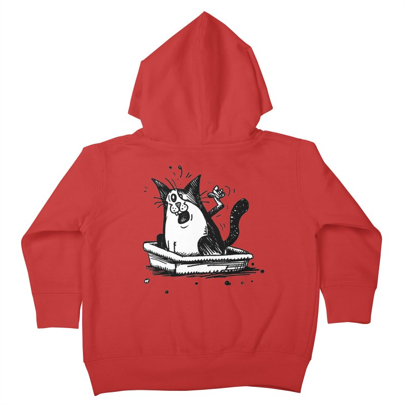 Litterbox! Kids Toddler Zip-Up Hoody by Sophisticated Lowbrow Art For The Discerning Masse