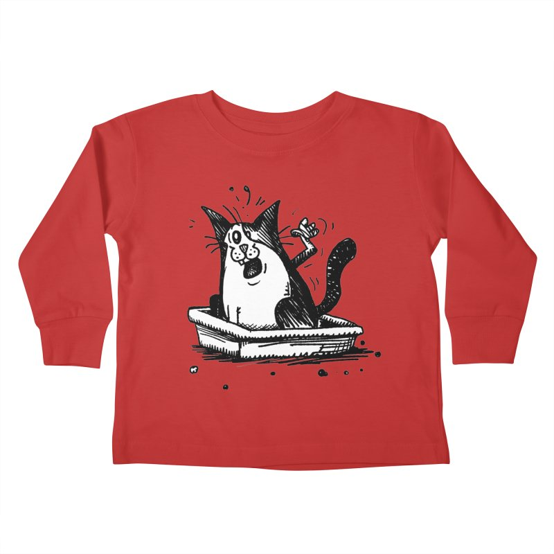 Litterbox! Kids Toddler Longsleeve T-Shirt by Fuzzy Poet's Artist Shop