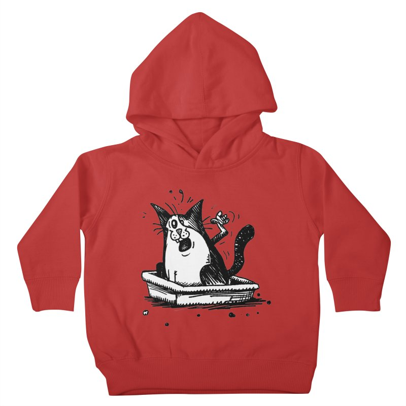 Litterbox! Kids Toddler Pullover Hoody by Fuzzy Poet's Artist Shop