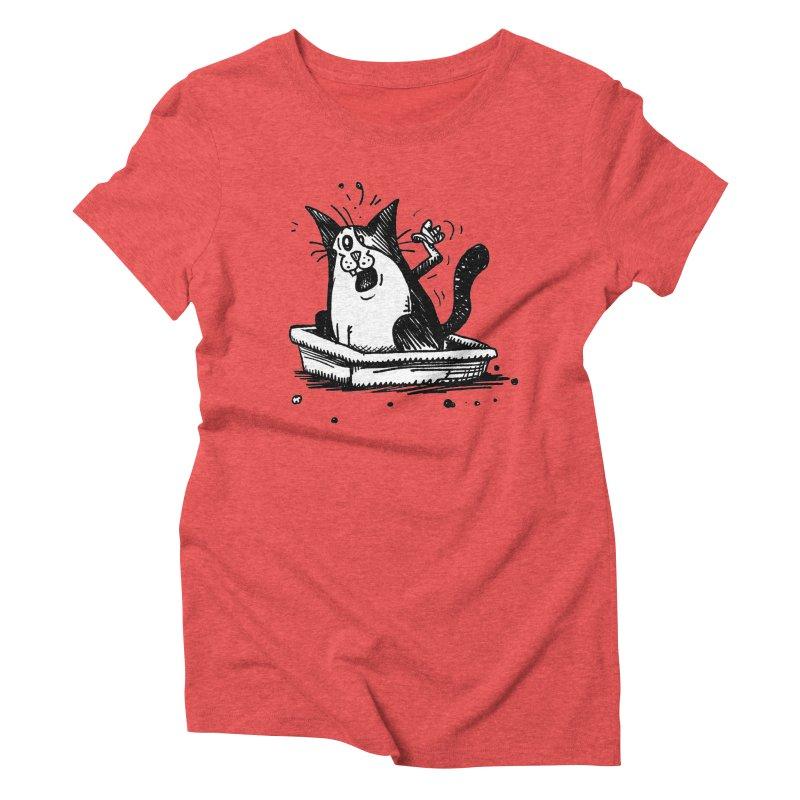 Litterbox! Women's Triblend T-Shirt by Fuzzy Poet's Artist Shop