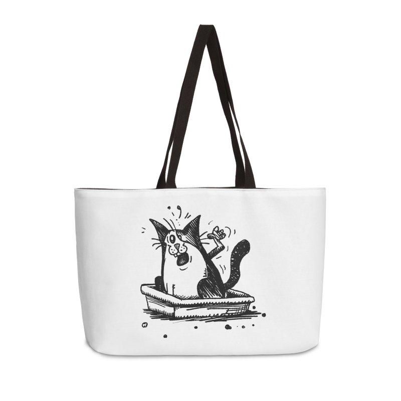 Litterbox! Accessories Weekender Bag Bag by Fuzzy Poet's Artist Shop