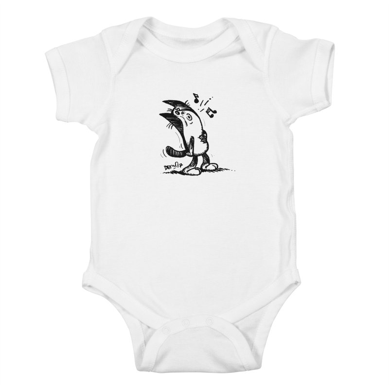 Whistle Proudly Kids Baby Bodysuit by Fuzzy Poet's Artist Shop