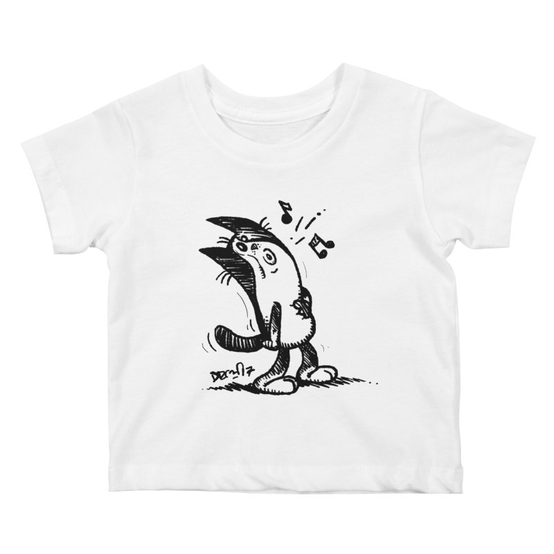Whistle Proudly Kids Baby T-Shirt by Fuzzy Poet's Artist Shop