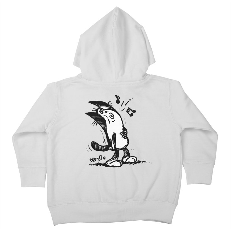 Whistle Proudly Kids Toddler Zip-Up Hoody by Fuzzy Poet's Artist Shop