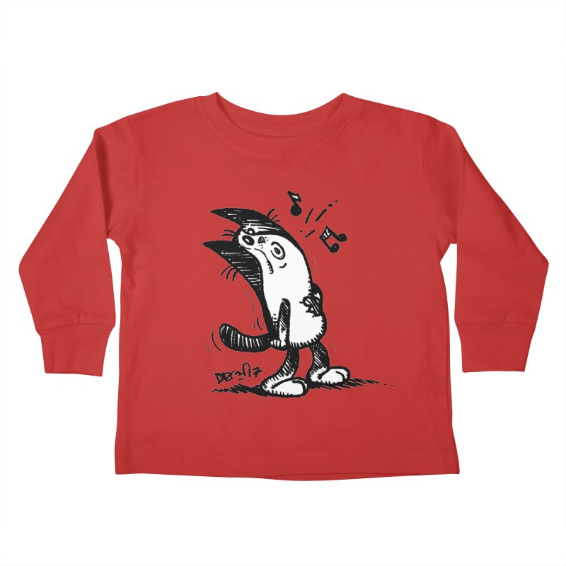 Whistle Proudly Kids Toddler Longsleeve T-Shirt by Fuzzy Poet's Artist Shop