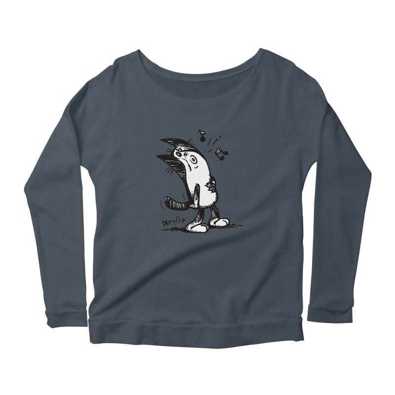 Whistle Proudly Women's Scoop Neck Longsleeve T-Shirt by Fuzzy Poet's Artist Shop