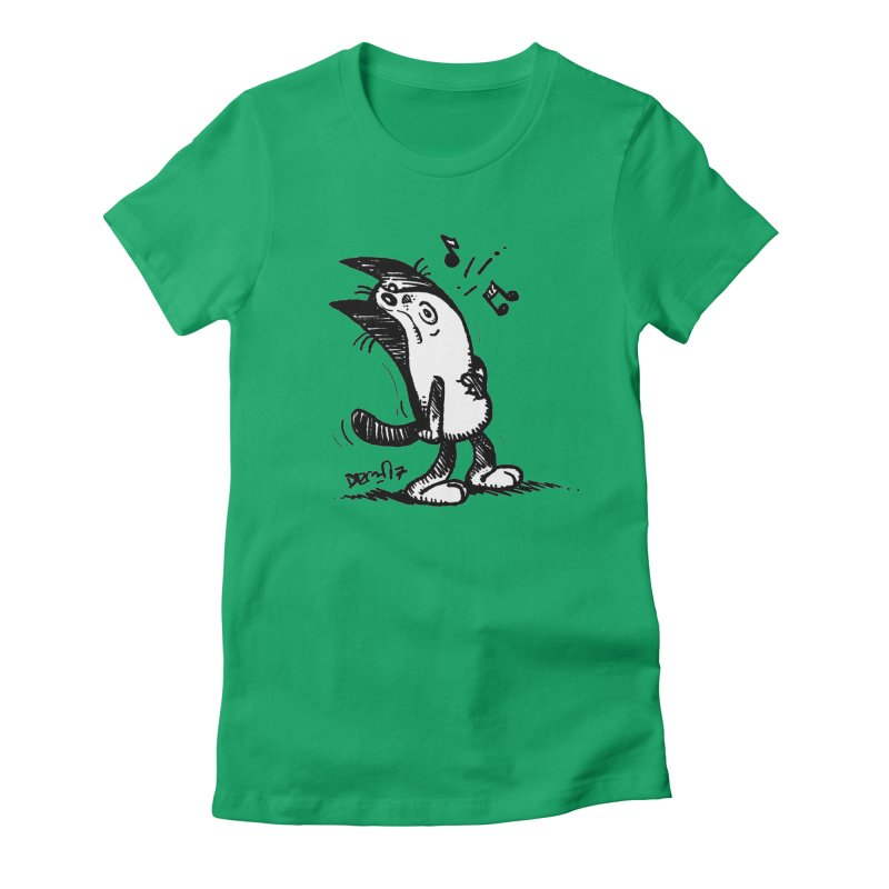 Whistle Proudly Women's Fitted T-Shirt by Fuzzy Poet's Artist Shop