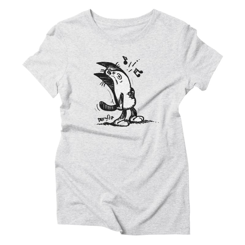 Whistle Proudly Women's Triblend T-Shirt by Fuzzy Poet's Artist Shop