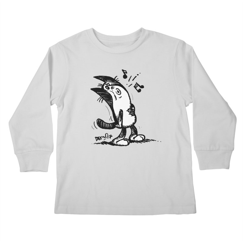 Whistle Proudly Kids Longsleeve T-Shirt by Fuzzy Poet's Artist Shop