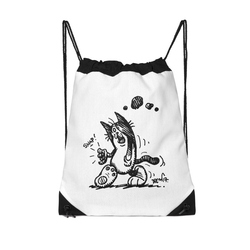 Snappy and Stylish Accessories Drawstring Bag Bag by Fuzzy Poet's Artist Shop