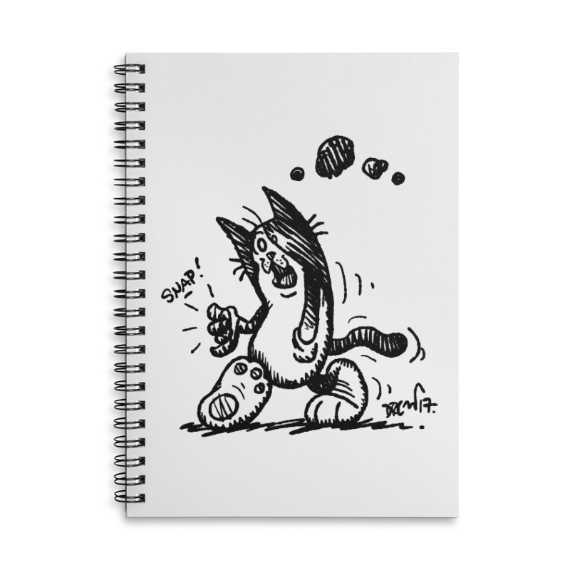 Snappy and Stylish Accessories Lined Spiral Notebook by Fuzzy Poet's Artist Shop