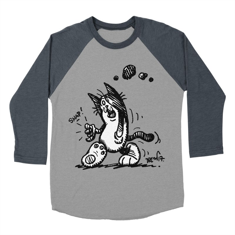 Snappy and Stylish Men's Baseball Triblend Longsleeve T-Shirt by Fuzzy Poet's Artist Shop