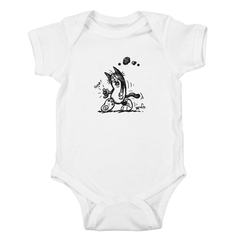 Snappy and Stylish Kids Baby Bodysuit by Fuzzy Poet's Artist Shop