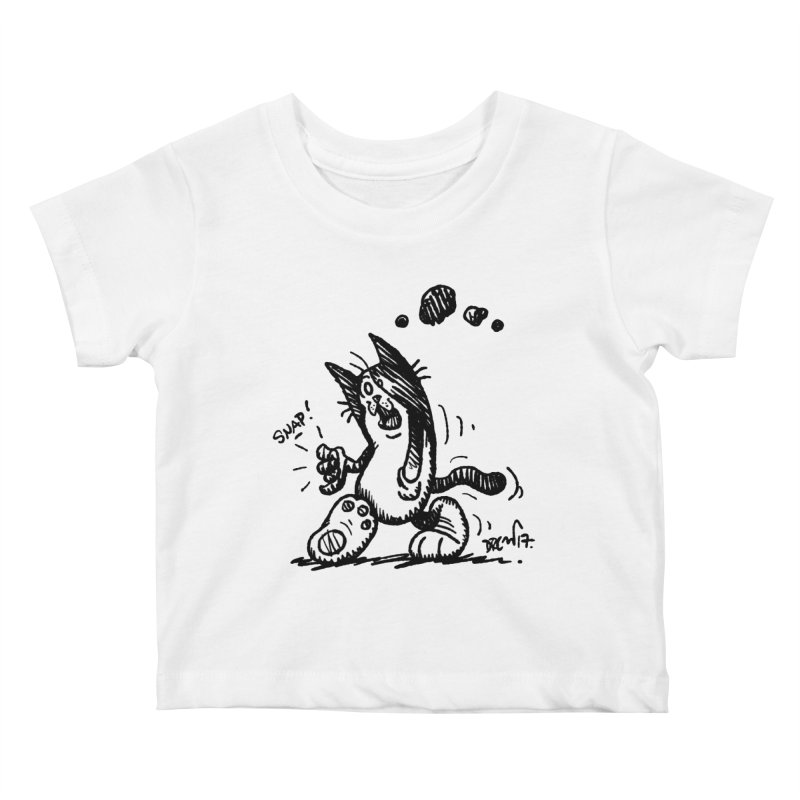 Snappy and Stylish Kids Baby T-Shirt by Fuzzy Poet's Artist Shop