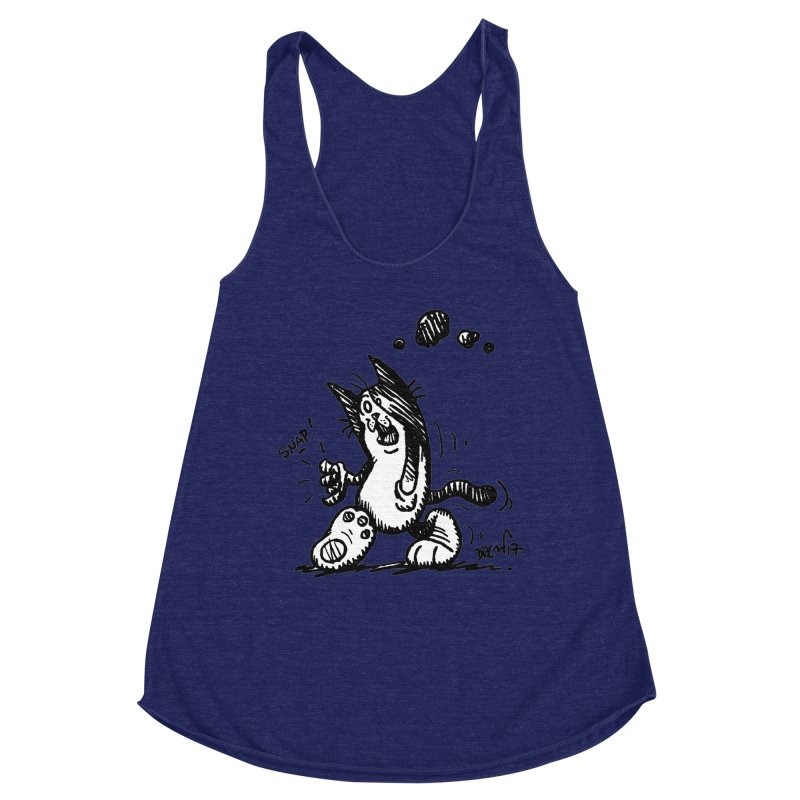 Snappy and Stylish Women's Racerback Triblend Tank by Fuzzy Poet's Artist Shop