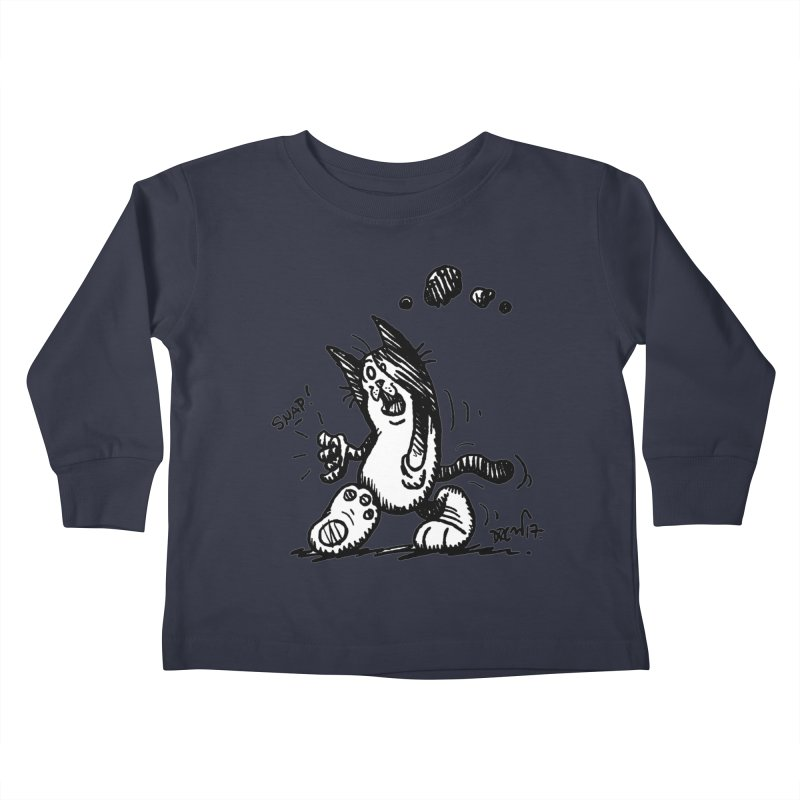 Snappy and Stylish Kids Toddler Longsleeve T-Shirt by Fuzzy Poet's Artist Shop