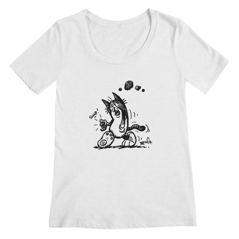 Snappy and Stylish Women's Regular Scoop Neck by Fuzzy Poet's Artist Shop