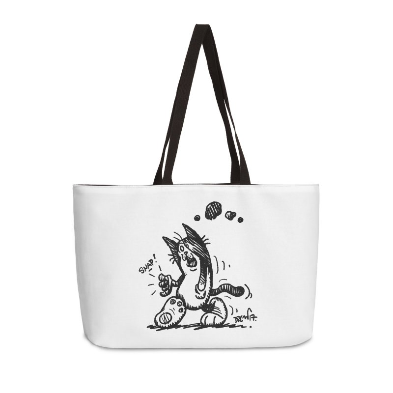 Snappy and Stylish Accessories Weekender Bag Bag by Fuzzy Poet's Artist Shop