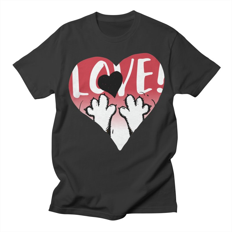 Love Tee Women's Regular Unisex T-Shirt by Fuzzy Poet's Artist Shop