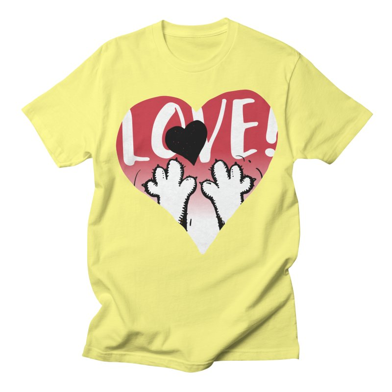 Love Tee Men's Regular T-Shirt by Fuzzy Poet's Artist Shop