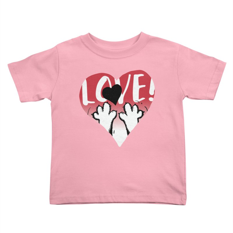 Love Tee Kids Toddler T-Shirt by Fuzzy Poet's Artist Shop
