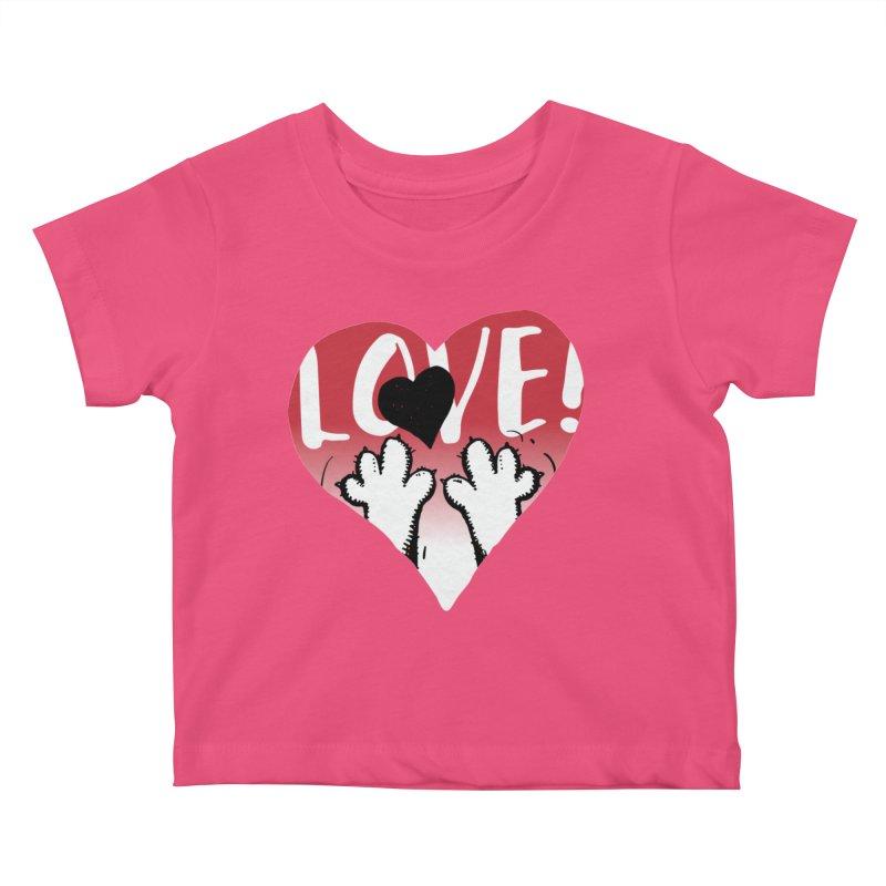 Love Tee Kids Baby T-Shirt by Fuzzy Poet's Artist Shop