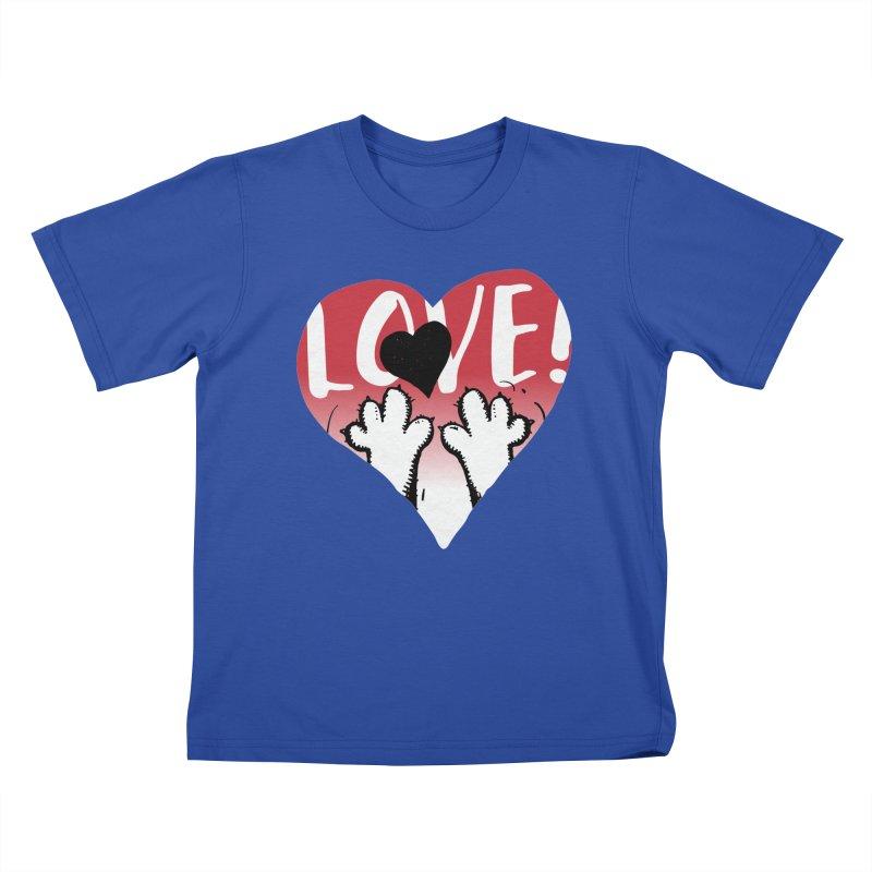 Love Tee Kids T-Shirt by Fuzzy Poet's Artist Shop