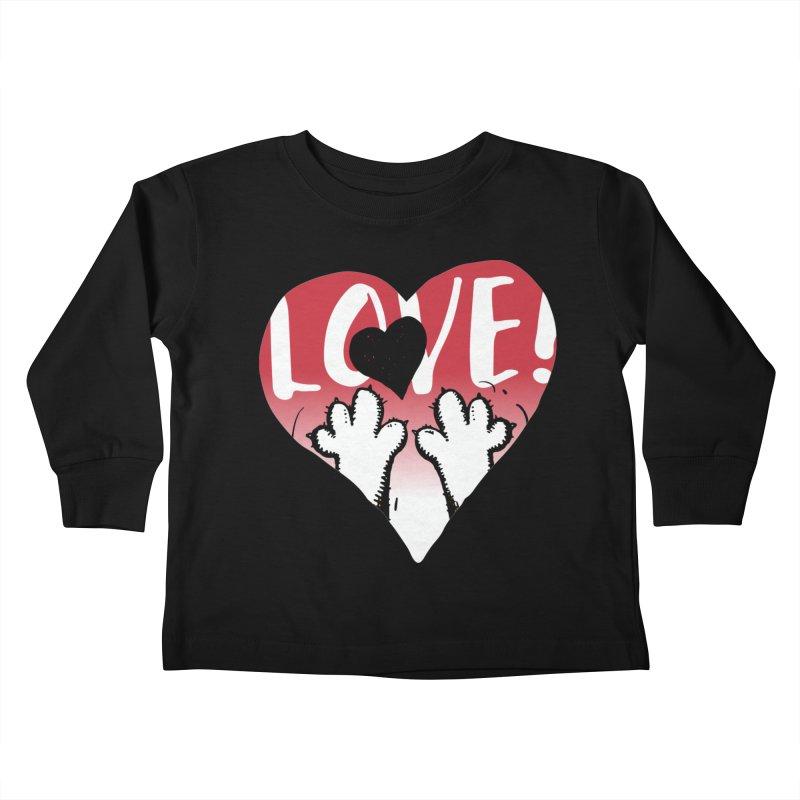 Love Tee Kids Toddler Longsleeve T-Shirt by Fuzzy Poet's Artist Shop