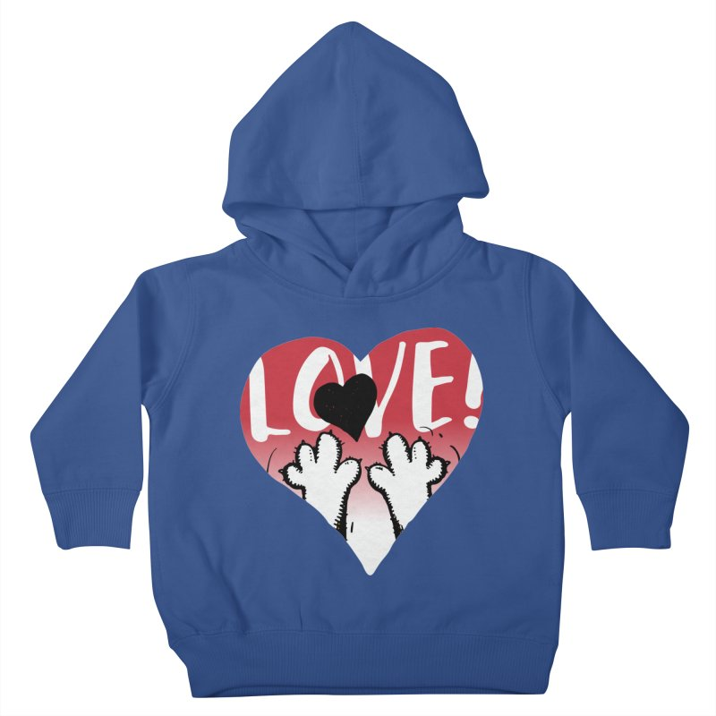Love Tee Kids Toddler Pullover Hoody by Fuzzy Poet's Artist Shop