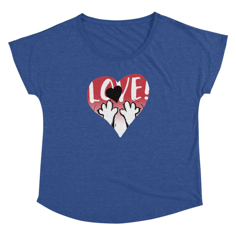 Love Tee Women's Dolman Scoop Neck by Fuzzy Poet's Artist Shop