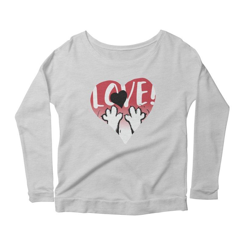 Love Tee Women's Scoop Neck Longsleeve T-Shirt by Fuzzy Poet's Artist Shop