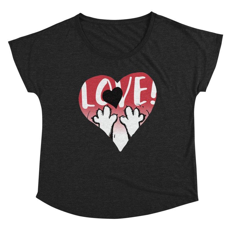 Love Tee Women's Dolman Scoop Neck by Fuzzy Poet's Artist Shop