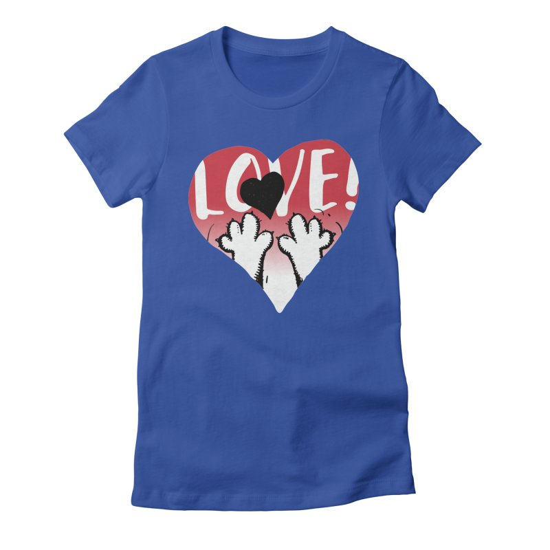 Love Tee Women's Fitted T-Shirt by Fuzzy Poet's Artist Shop