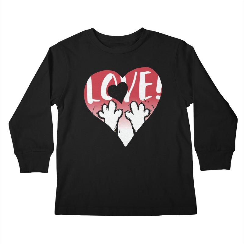 Love Tee Kids Longsleeve T-Shirt by Fuzzy Poet's Artist Shop