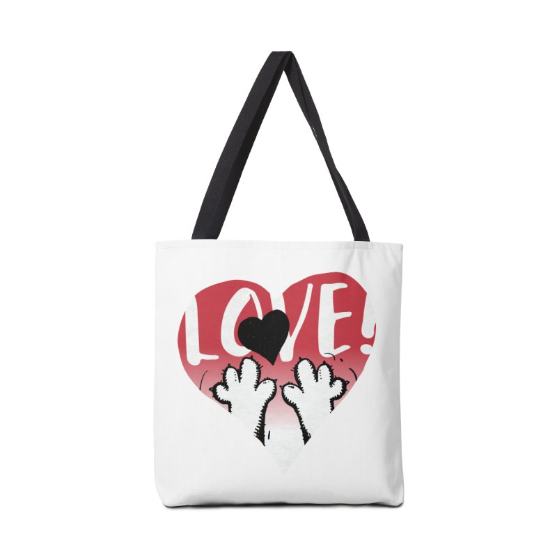 Love Tee Accessories Tote Bag Bag by Fuzzy Poet's Artist Shop