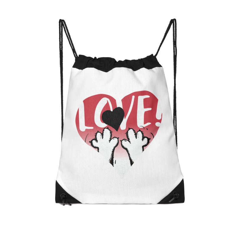 Love Tee Accessories Drawstring Bag Bag by Fuzzy Poet's Artist Shop